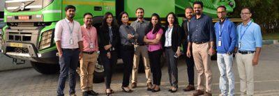 Rekryteringsteamet vid Volvokoncernen i Indien