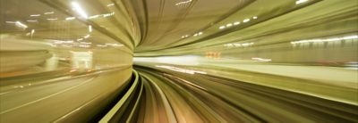 Long exposure picture of a tunnel