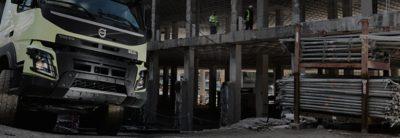Volvo FMX construction site