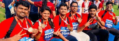 Volvo Group India employees at a running event