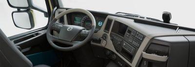 The comfortable interior of the new Volvo FM