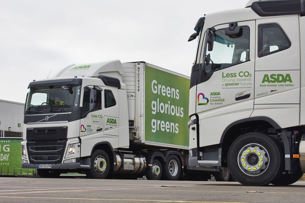 Asda scales gas fleet fast, with huge Volvo FH LNG order