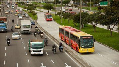 Volvo BRT-rendszer Bogotá városában