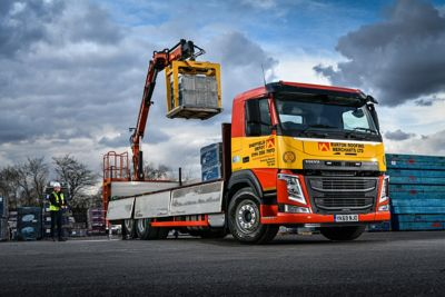 Burton Roofing has added four new crane-equipped Volvo FM rigids to its fleet