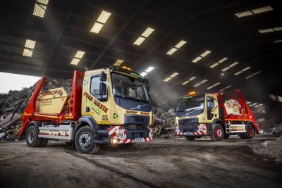 Peak Waste Recycling has added one Volvo FE and two Volvo FL skip loader trucks to its expanding fleet.