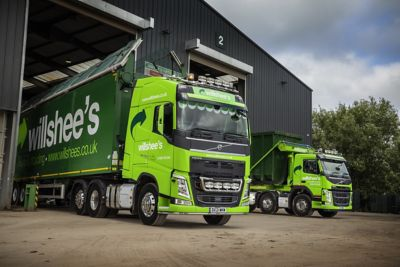 Willshees Waste & Recycling has added two Volvo FM 8x4 rigids and one FH 6x2 tractor unit to its rapidly expanding fleet.