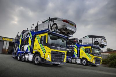 Bolton-based J&P Vehicle Deliveries is operating the first two new model Volvo FM car transporter chassis to enter service in the UK.