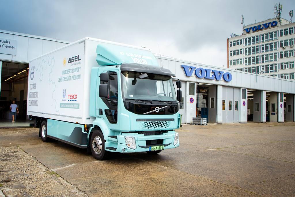 A WSZL flottájában állt munkába az első tisztán elektromos hajtású Volvo FL teherautó