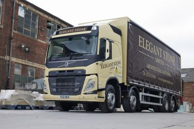 Elegant Stone has upgraded its delivery fleet with a new FM 8x2 rigid