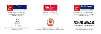Awards voor medewerkers van de Volvo Group