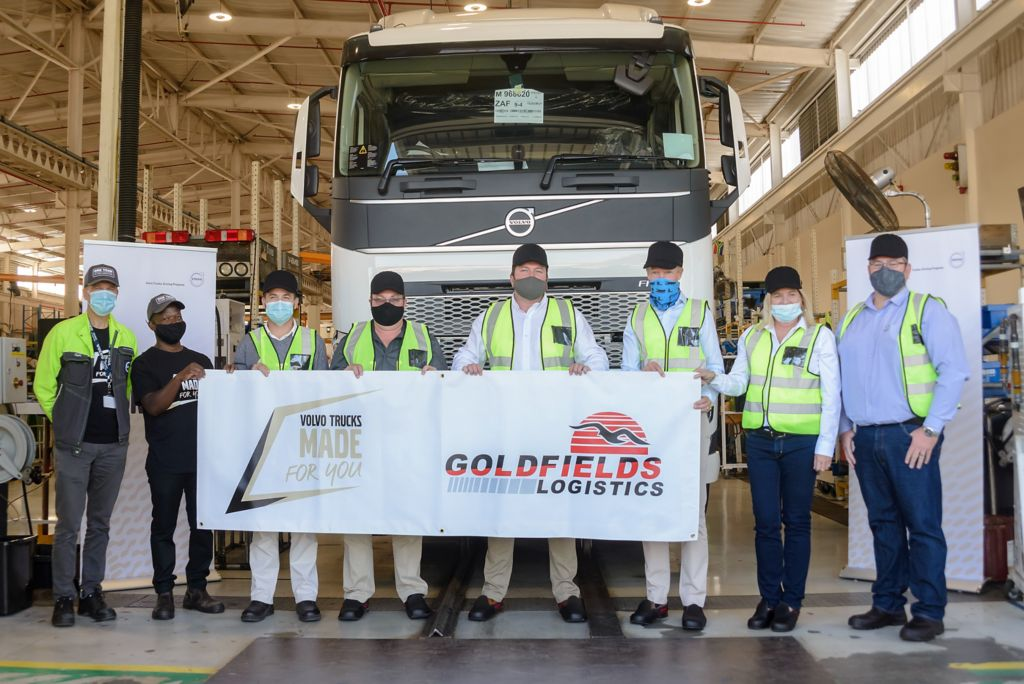 Goldfields logistics takes delivery of the first new range Volvo FH produced locally.