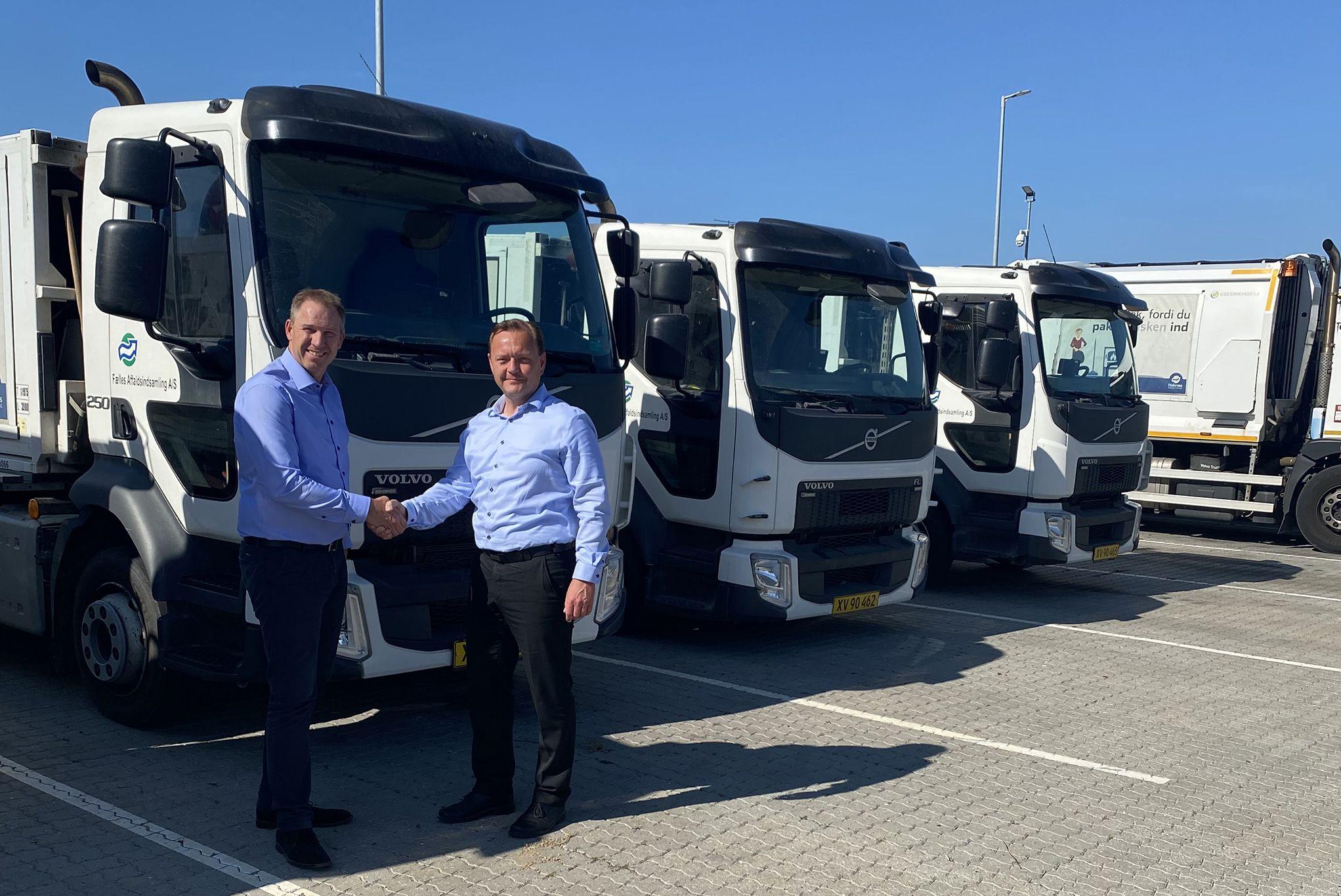 18 nye miljø- og klimavenlige skraldebiler fra Volvo kører ud i Halsnæs Kommune