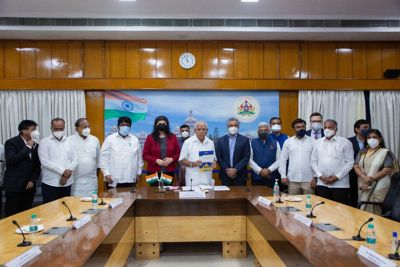 Hon'ble CM Shri B S Yediyurappa inaugurates 56-bed ICU at Sir CV Raman General Hospital, augmented by Volvo Group, 3M India & Hitachi ABB