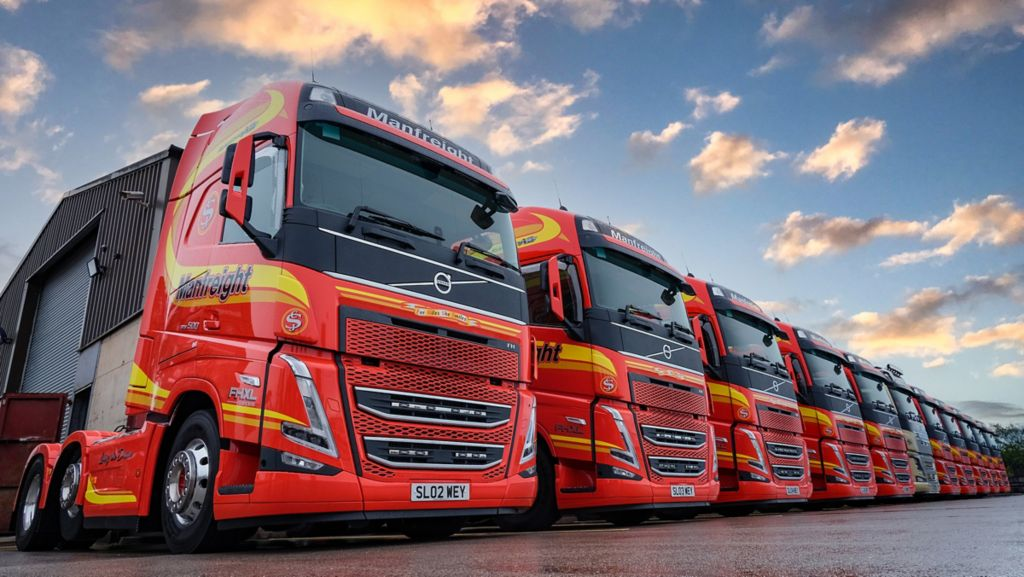 First new model Volvo FH trucks in Northern Ireland enter service for Manfreight