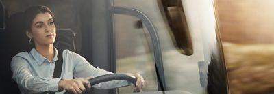 Mit weiblichem Fahrer