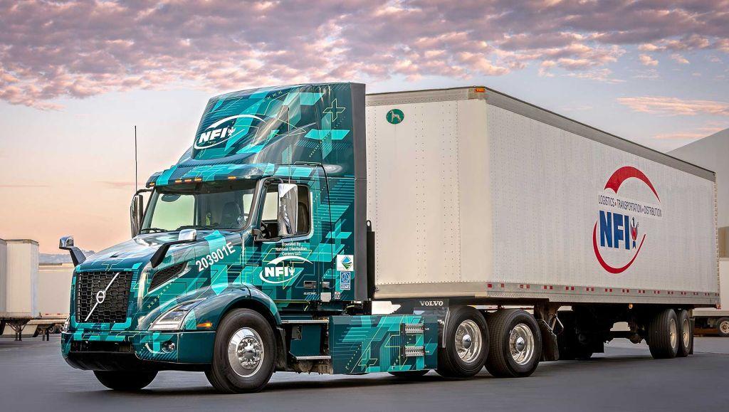 NFI operates its Volvo VNR Electric fleet