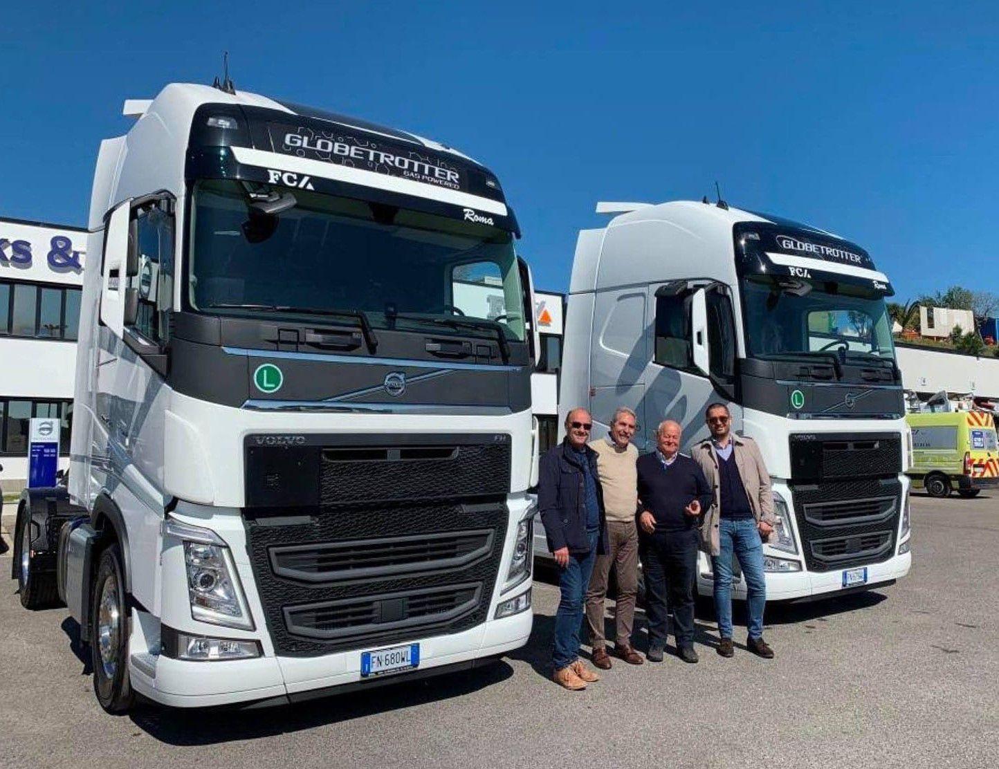 Tre veicoli a LNG di TTE attraversano quotidianamente l'Europa trasportando farmaci.