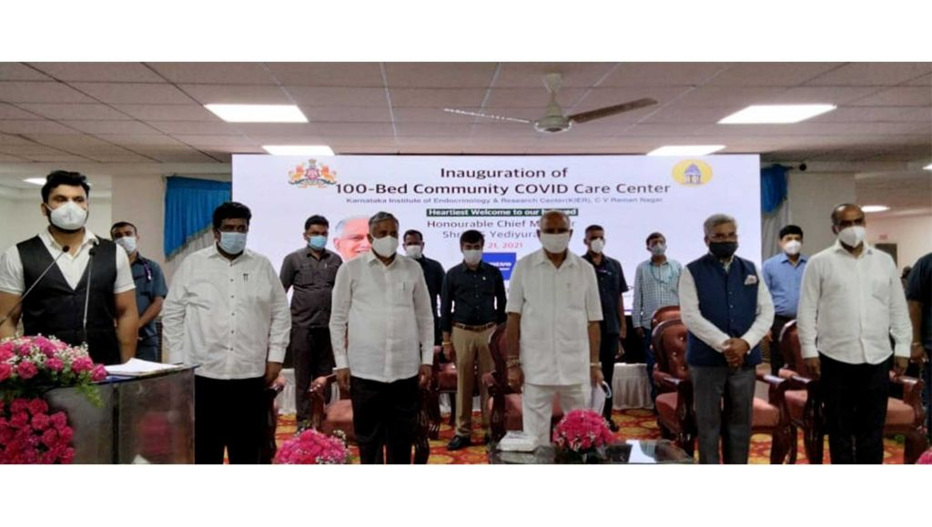 VOLVO & BBMP SET UP A 100-BED COVID CARE CENTRE IN BANGALORE