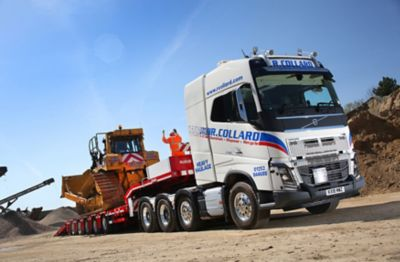 The flagship of the Collard Group fleet is a Volvo FH16 750 8x4 heavy haulage tractor unit.