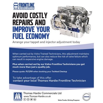 Truck Frontline Healthy Savings from Thomas Hardie Commercials Ltd