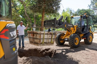 Volvo Electric wheel Loader Tree Planting