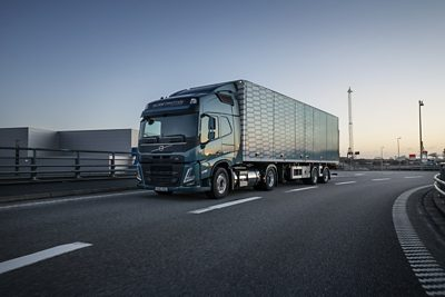 Volvo FM LNG driving on road