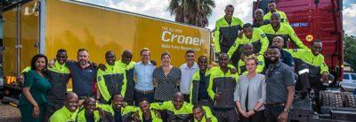 Conductores en capacitación de Volvo Group en África