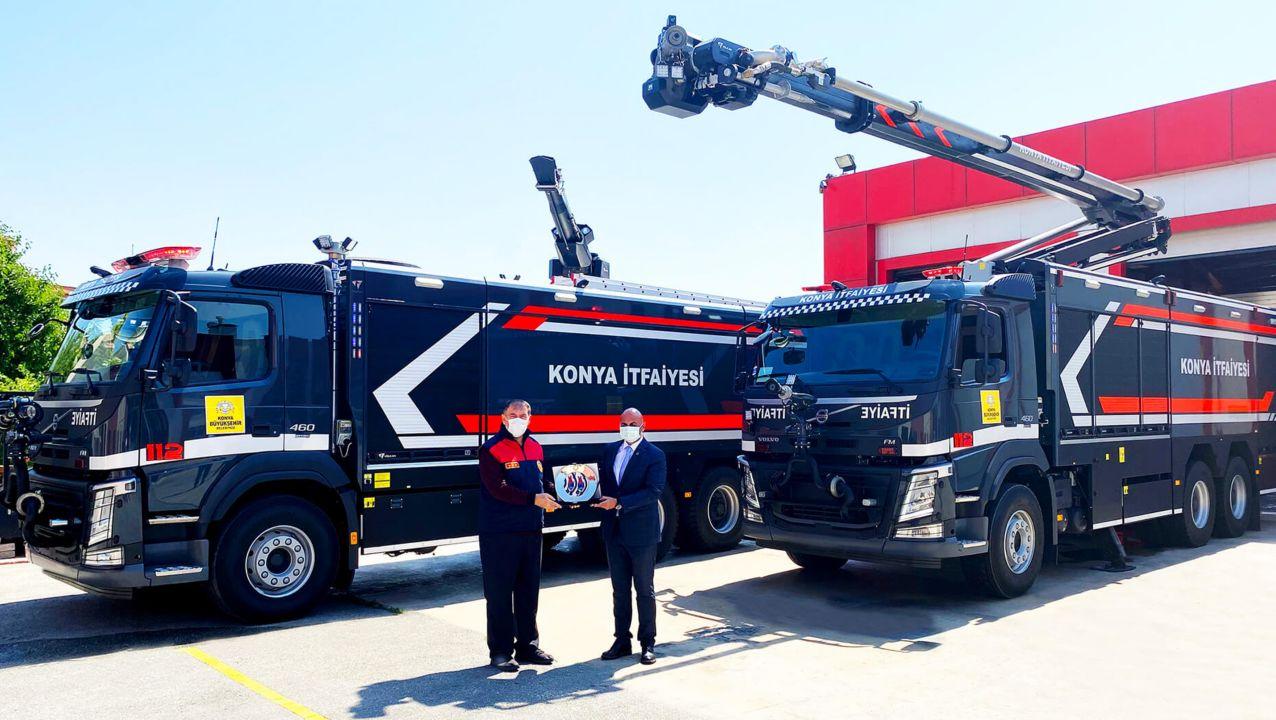 Volvo Trucks'tan Konya Büyükşehir Belediyesi İtfaiye Daire Başkanlığı'na Teslimat