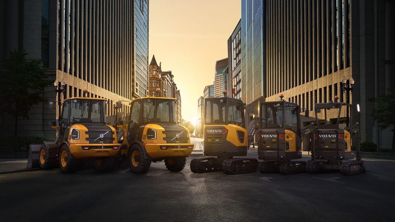 Volvo CE reafirma compromisso com futuro sustentável lançando novas máquinas elétricas