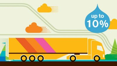 Volvo trucks about us every drop counts illustration airflow