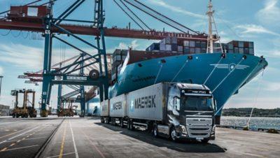 Volvo trucks global FH 16 in harbour