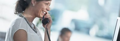 Volvo trucks about us overview woman talking phone