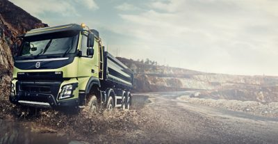Volvo FMX all wheel drive truck gravel pit