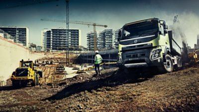 Volvo FMX all wheel drive loading truck