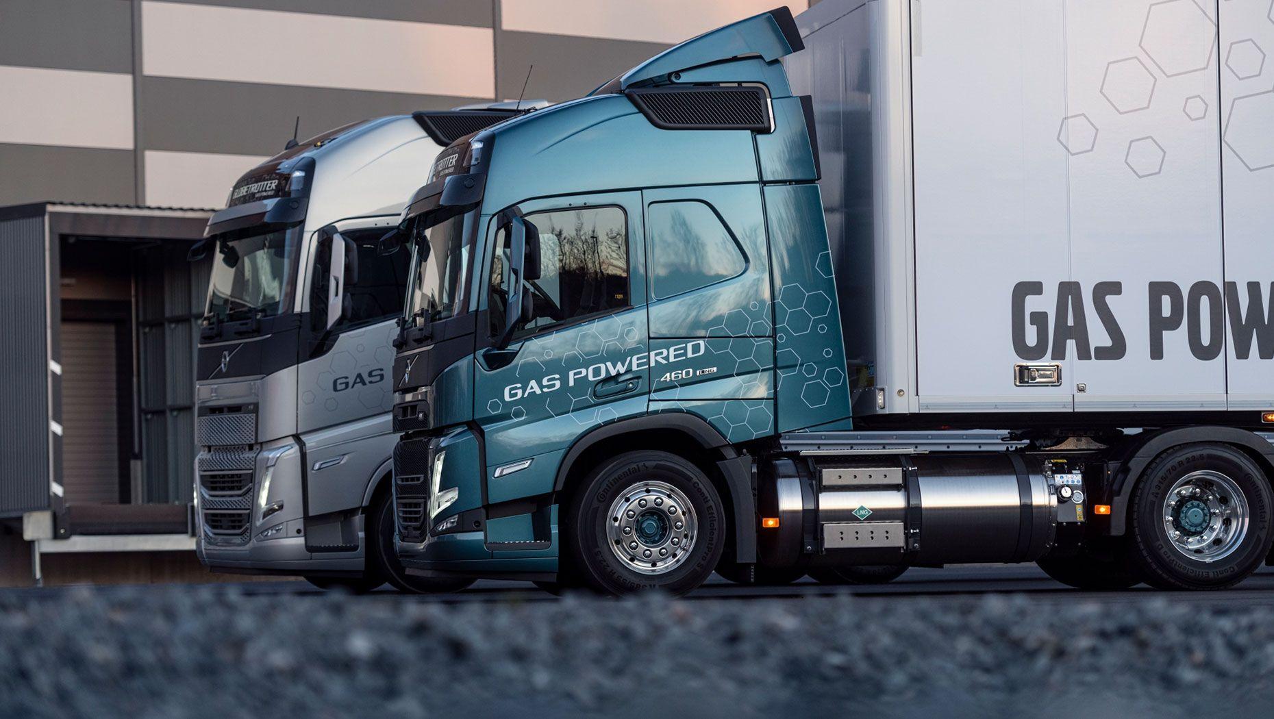 Volvo Trucks´ gas-powered range:  Volvo FH LNG and Volvo FM LNG