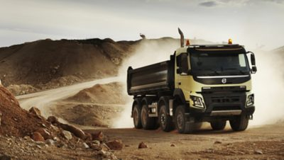 Volvo FMX automatic traction control dirty road