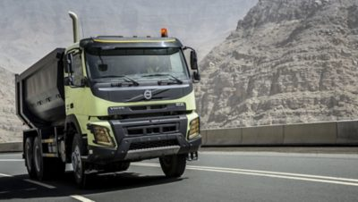 Volvo FMX automatic traction control mountains