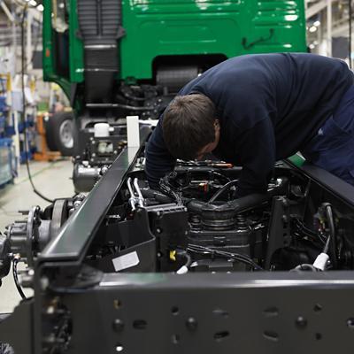 Parte superior del bastidor en el área de fabricantes de carrocerías
