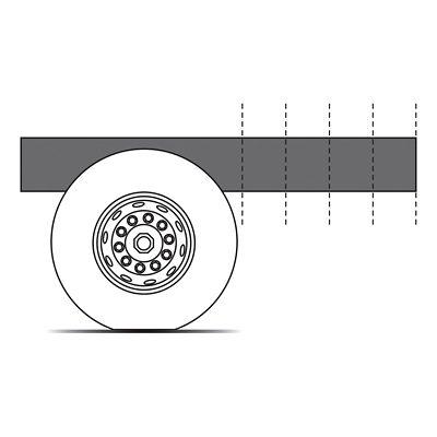 El voladizo trasero se puede cortar exactamente como lo necesite