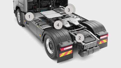 Volvo FH chassis tractor studio illustration