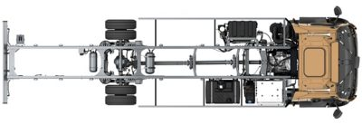 A range of front axels, all maintenance-free