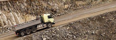 Volvo FMX crawler gears on road