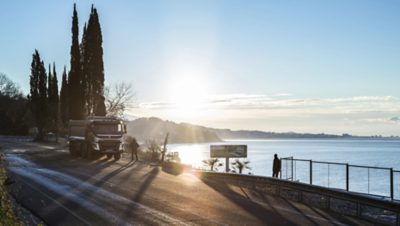 Volvo trucks global about us truck by lake