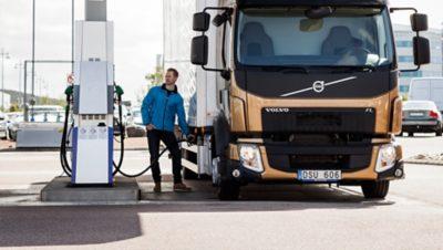 Volvo trucks euro 6 services gas station