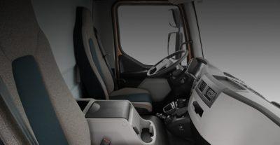 Cabina del Volvo FL: comodidad interior, óptima en todos los aspectos