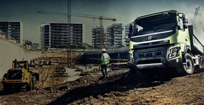 Volvo FMX diesel engines truck loading