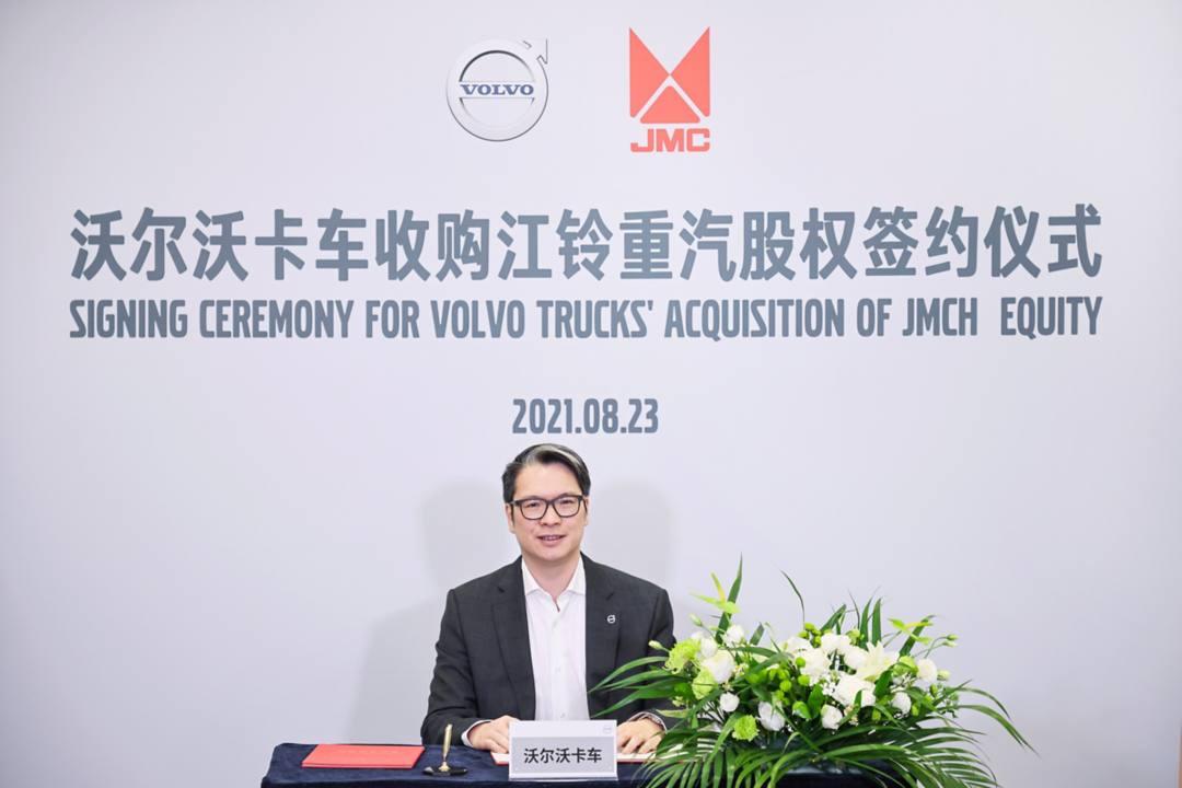 沃尔沃卡车中国总裁董晨睿先生在沃尔沃卡车签约现场