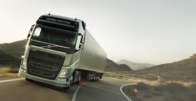 Volvo FH dynamic steering on road