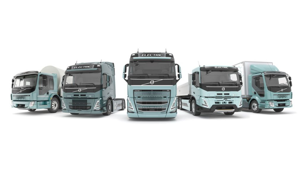 Volvo Trucks bringt ab 2021 komplette Modellpalette elektrisch angetriebener Lkw auf den europäischen Markt