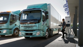 Volvo FL Electric. Door-to-door deliveries